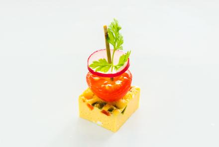 イタリア風オムレツと彩り野菜の ピンチョス